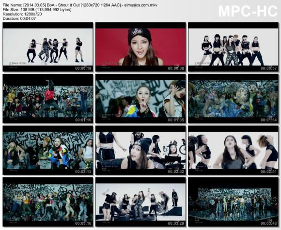 Download BoA - Shout It Out [720p]   [PV]