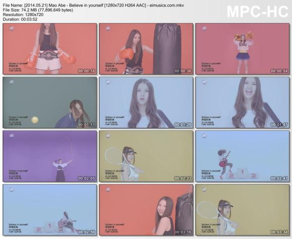 Download Mao Abe - Believe in yourself [720p]   [PV]