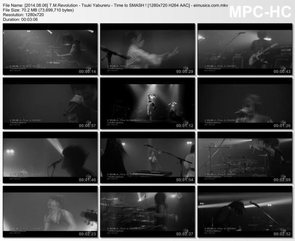 Download T.M.Revolution - Tsuki Yabureru - Time to SMASH ! [720p]   [PV]