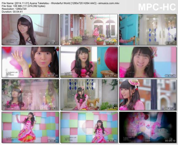Download Ayana Taketatsu - Wonderful World [720p]   [PV]