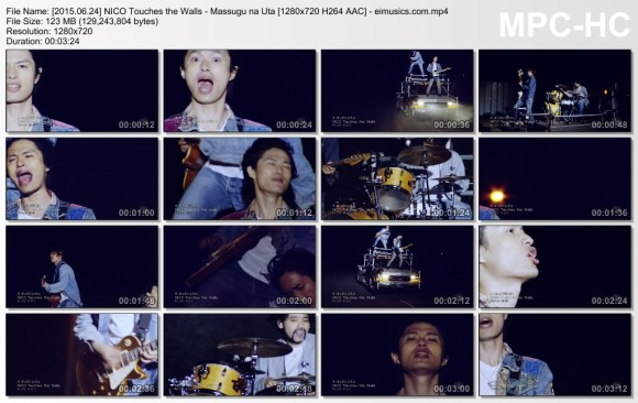 Download NICO Touches the Walls - Massugu na Uta [720p]   [PV]