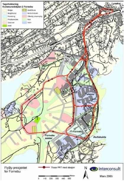 Our PRT solution for Fornebu - Lysaker area 2003