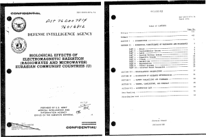 Military report on findings in the