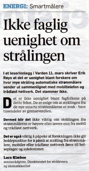 Klæboe-Varden 22.03.2016-Ikke faglig uenighet om strålingen2