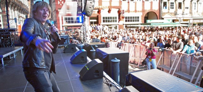 Mickie Krause beim Eulenfest. Archivfoto: Frank Bertram
