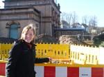 Bürgermeisterin am Bahnhof. Foto: Stadt Einbeck