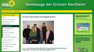 Auf der Grünen-Internetseite zeigen sie sich noch gemeinsam als Fraktion: Hans-Joachim Nehring (2.v.r.) mit seinen Ex-Fraktionskollegen. Screenshot 21.03.2014