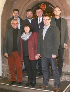 Der SPD-Fraktionsvorstand, vordere Reihe - Ralf Messerschmidt, Margrit Cludius-Brandt, Detlef Martin  hintere Reihe - Dirk Heitmüller, Marcus Seidel, Rolf Hojnatzki, Ulrich Minkner. Foto: SPD