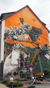 ...dieses Graffiti-Bild der Street-Art-Meile 2015. Archivfoto