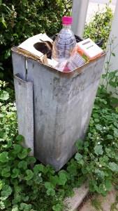 Oft gut gefüllt: Abfallbehälter in der Innenstadt.