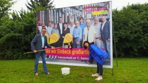 Große Fläche, kleine Partei: Die Freidemokraten setzen heuer auf elf Großflächenplakatwände.