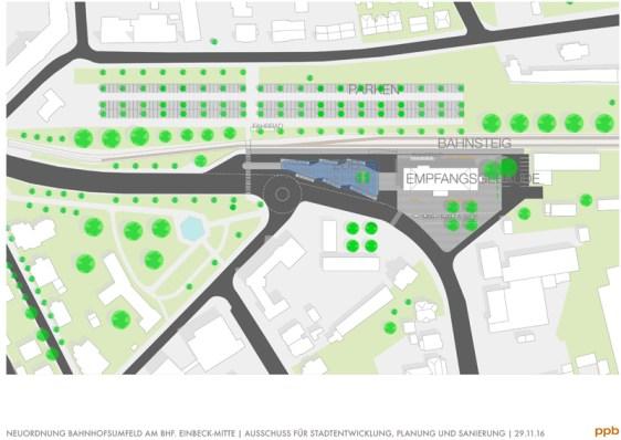 Planung ZOB-Neugestaltung in Einbeck. (c) ppb
