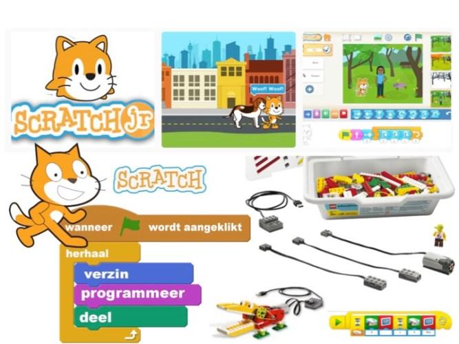 Bouw, programmeer en teken met ScratchJr en Lego WeDo