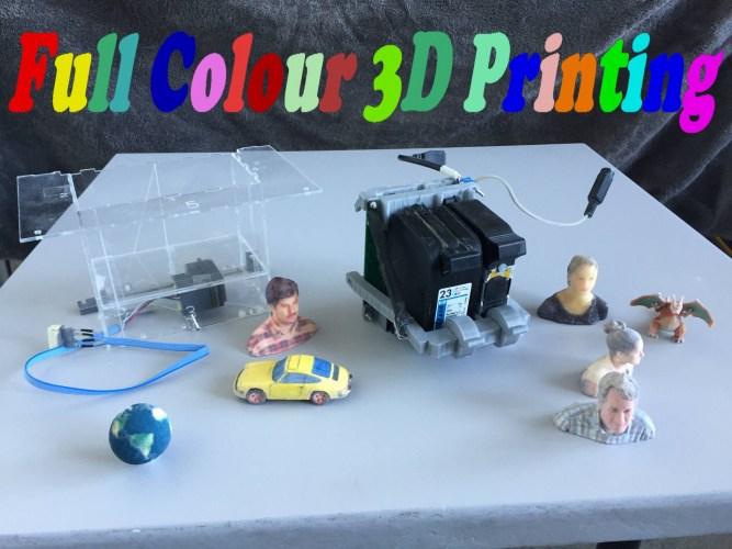 Full colour 3D printing