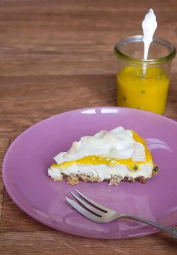 Mango-Passionsfrucht-Cheesecake, unglaublich cremig und lecker. www.einepriselecker.de