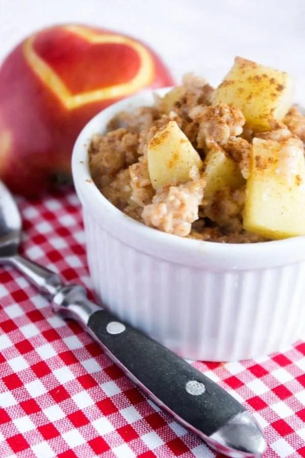 Schneller Applepie Oatmeal Pudding