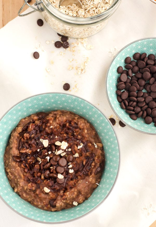 quick and easy chocolate coconut oatmeal pudding. www.einepriselecker.de