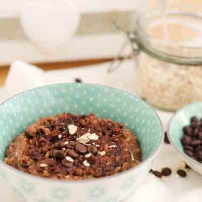 Yummy Chocolate-Coconut Oatmeal-Pudding