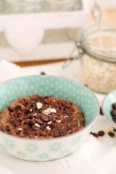 Yummy Chocolate-Coconut Oatmeal-Pudding