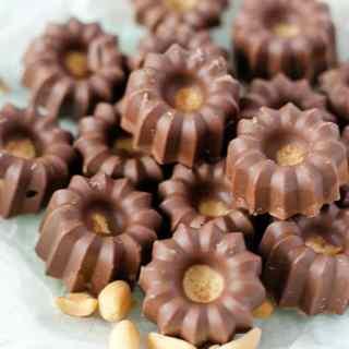 skinny peanutbuttercups – kalorienarme Erdnussbuttercups