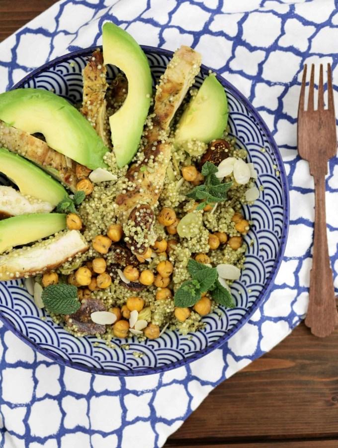 Quinoa-Salat mit Hähnchen, Kichererbsen und Feigen (Gastbeitrag)