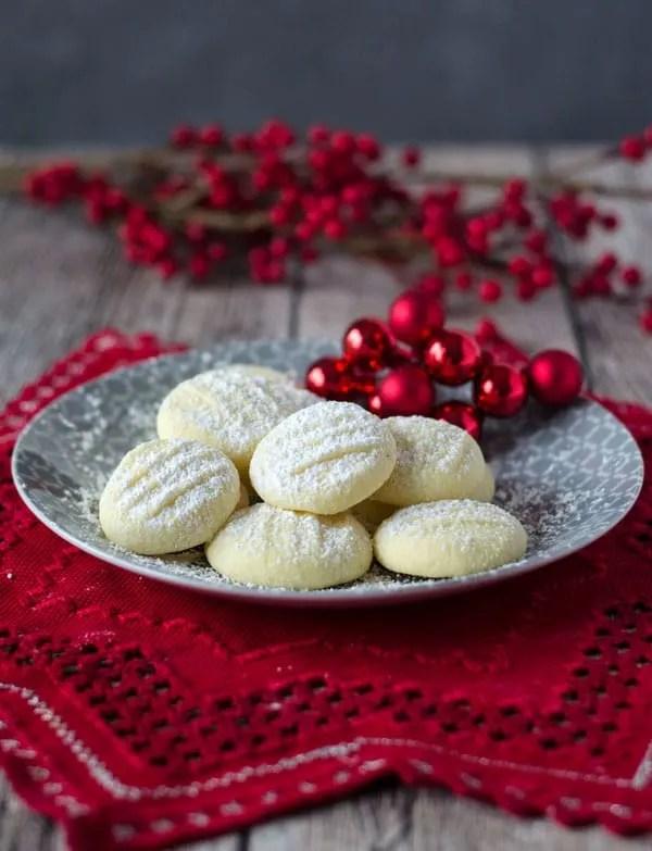 Unglaublich zarte Schneeflöckchen Kekse