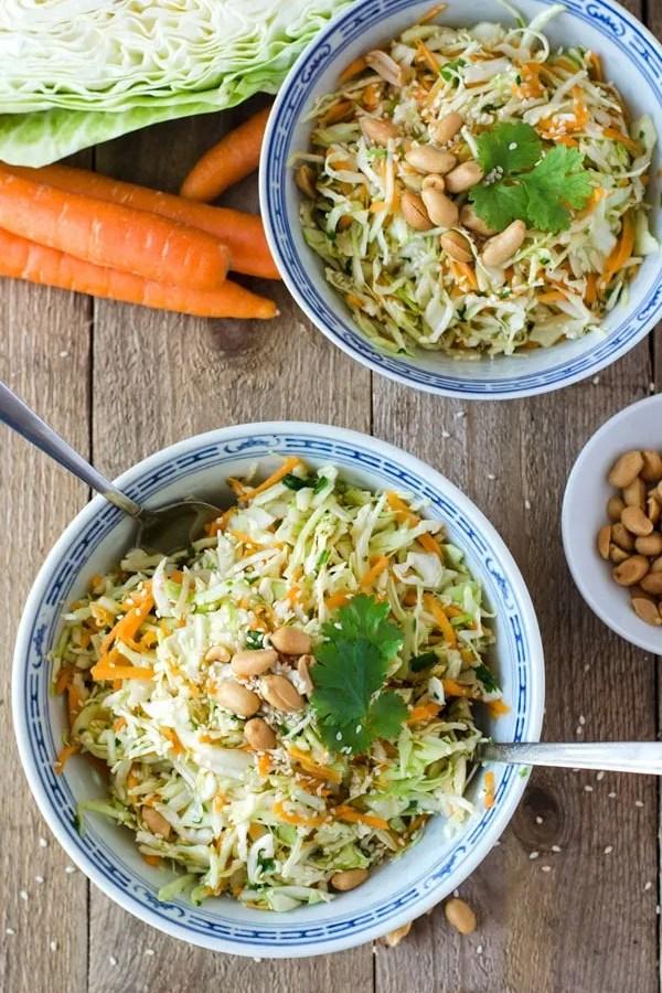 Asiatischer Krautsalat – schnell und kalorienarm