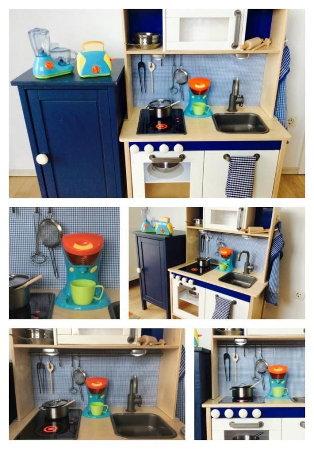 wir pimpen unsere ikea kinderk che duktig. Black Bedroom Furniture Sets. Home Design Ideas