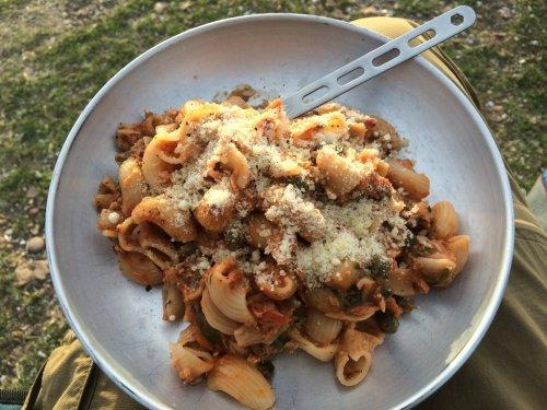 Nudeln Thunfisch Parmesan