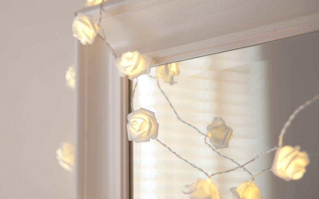 Geschenkidee LED Rosenkette
