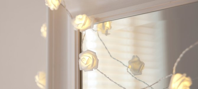 LED Rosen Lichterkette
