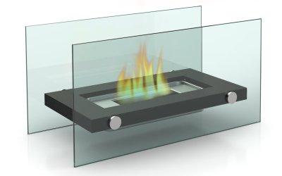 Design Tisch-Kamin