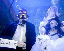 Unterwasser-Hochzeit