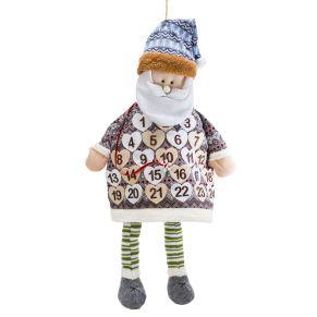 Besonderer Adventskalender für besondere Menschen. Diesen Weihnachtsmann ist individuell befüllbar. Nicht geeignet für Kinder unter 3 Jahren. Maße: ca. 75 x 32 x 8 cm, Gewicht: ca. 0,3 kg, Material: 100% Polyester.<br>