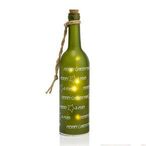 Ein dekoratives Highlight sind diese beleuchteten, matten Glas- Flaschen mit 5 warm-weißen LEDs. Nur für den Innenbereich geeignet, Batterien: je 3 x 1,5 V Microbatterien (nicht inkl.), Maße: ca. 30 cm hoch, 7 cm Ø, Gewicht: ca. 0,41 kg, Material: Glas, Kunststoff.<br>