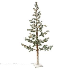 Eine tolle, winterliche Indoor Dekoration. Mit 55 warmweißen LEDs, Maße: ca. 160 cm hoch, 45 cm Ø, Zuleitung ca. 3 m lang, Gewicht: ca. 3,1 kg, Material: Kunststoff, MDF, Metall.<br>