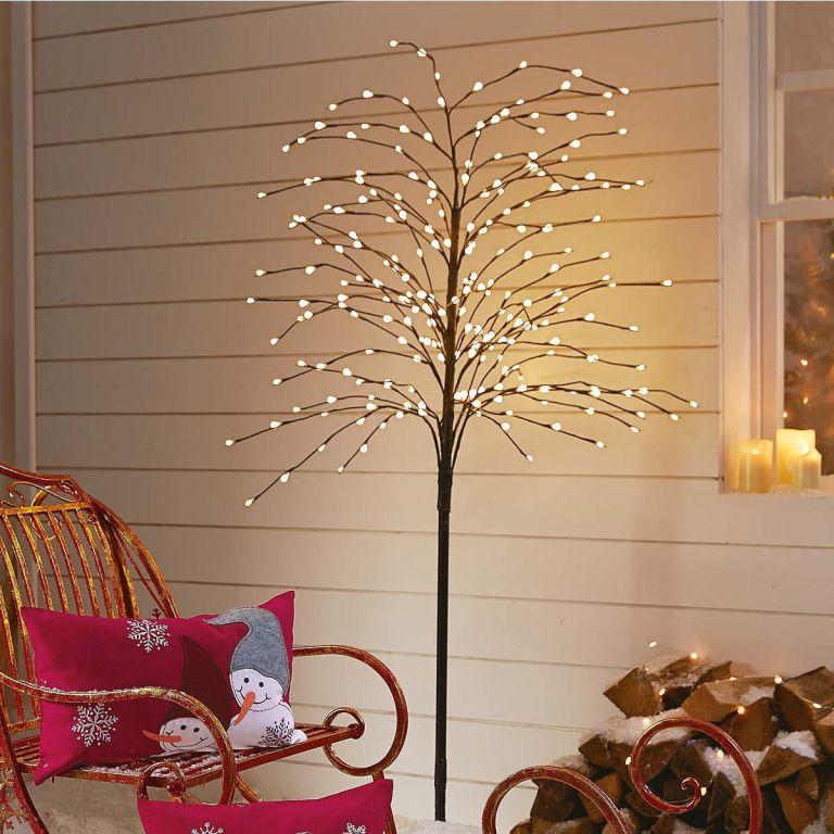 Weihnachtsbeleuchtung Led Baum.Led Baum Weidenkätzchen Beleuchtet Outdoorgeeignet Ca H200 Cm