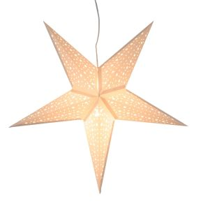 Der schöne Stern sorgt für ein weihnachtliches und gemütliches Ambiente. Maße: ca. Ø 62 cm, 24 cm tief, Material: Papier.<br>