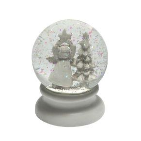 Schüttelkugel mit Schnee-Effekt und niedlicher Dekoration. Maße: ca. Ø 8 x H10,7 cm, Gewicht: ca. 0,5 kg, Material: Kunststoff.<br>