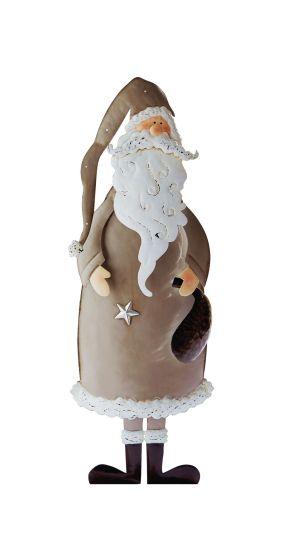 Diese liebevoll gestaltete Dekofigur darf bei der Weihnachtsdekoration nicht fehlen. Maße: ca. Breite 19,5 x Tiefe 7 x Höhe 51 cm, Gewicht: ca. 1 kg, Material: Metall.<br>
