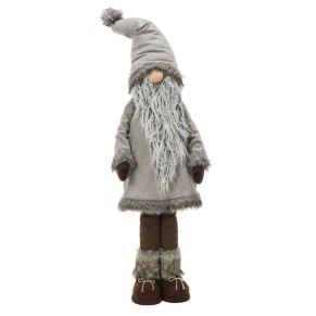 Der niedliche Weihnachtswichtel in Maxigröße bringt das besondere Etwas in jede Weihnachtsdekoration. Mit Kunstfellbesatz und langem Rauschebart, Maße: ca. B40 x T25 x H113 cm, Gewicht: ca. 2,1 kg, Material: Polyester, Baumwolle, Holz.<br>