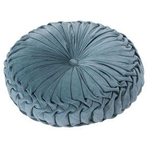 Mit samtigem Obermaterial. Maße: ca. Ø40 cm, Gewicht: ca. 0,6 kg, Material: 100% Baumwolle, Füllung: 100% Polyester.<br>