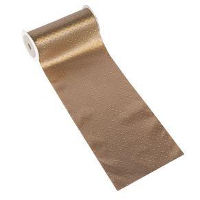 Dieser Stoff schimmert edel und lädt zur individuellen Gestaltung ein. Lieferung auf Rolle. Maße: ca. B12 x L200 cm, Material: 100% Polyester.<br>