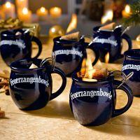 Geschenkset Feuerzangenbowle, 2 Tassen, Glühwein, Zimt-Zucker-Hüte & Rum
