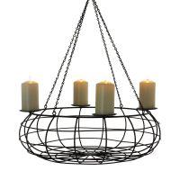 Kerzenkorb Pure, hängend, Metall Durchmesser ca. 50 cm