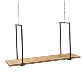 Die etwas andere Art Weihnachtsartikel zu dekorieren. Zum Aufhängen, max. Tragfähigkeit 8 kg, Maße: ca. B76 x T23 x H100 cm (inklusive Ketten), Gewicht: ca. 2,3 kg, Material: Holz, Metall.<br>