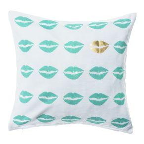 Dekorative Kissenhüllen. Rückseite unifarben weiß, mit Reißverschluss, Maße: ca. 40 x 40 cm, Material: 100% Baumwolle.<br>