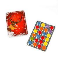 Mini-Adventskalender, 24 Schokoladenlinsen B11xT0,7xH8cm