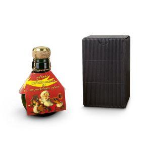 Die kleinste Sektflasche der Welt mit 0,125 l Sekt brut - mit einer Weihnachtsmanschette: Ein fröhlicher Weihnachtsgruß. Maße: ca. L13,5 x B8,5 x H8,5 cm. Zutaten: 0,125l Grüner Veltliner brut: Alk. 12,5% vol.. Allergiehinweis: Enthält Sulfite<br>