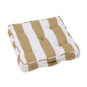 Das perfekte Sitzkissen, in klassischem Blockstreifen-Dessin. Maße: ca. Breite 40 x Tiefe 40 x Höhe 7,5 cm, Gewicht: ca. 0,8 kg, Material: Bezug: 100% Baumwoll-Canvas, Füllung: 100% Polyester.<br>